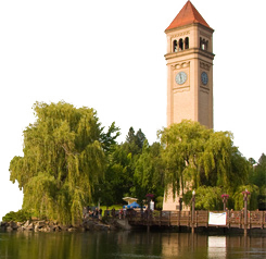 Iconic Clock Tower in Spokane Valley, WA